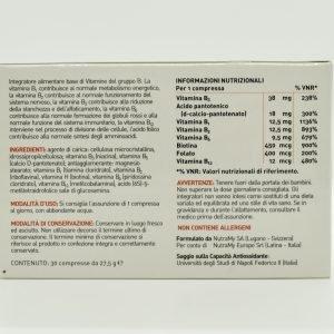 Vitamina b retro etichetta
