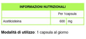 Acetilcisteina Nutraceutico Bioattivo